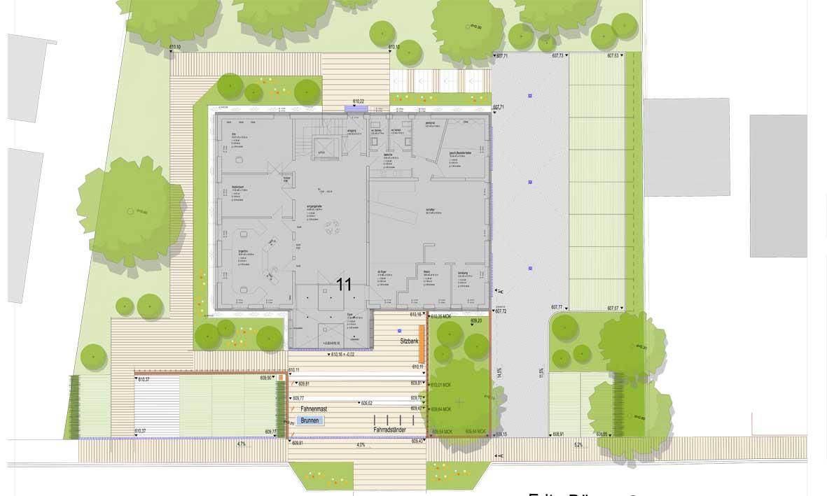 Entwurfsplanung Freiflächengestaltung
